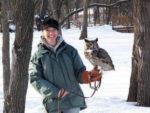 Pam Walks Junior During the Raptor internship